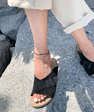 冠军色脚链
